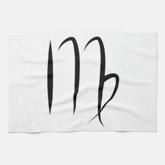 virgo greek astrology horoscope zodiac symbol kitchen towel