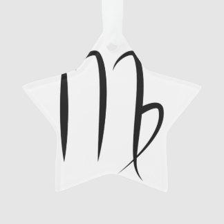 virgo greek astrology horoscope zodiac symbol ornament