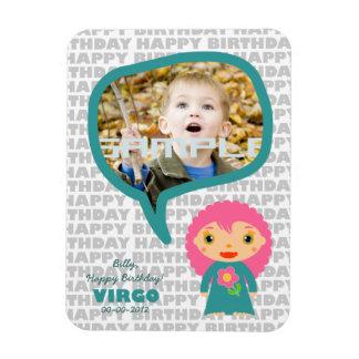 Virgo Happy Birthday Keepsake for kids Magnet
