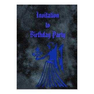"Virgo 5"" X 7"" Invitation Card"