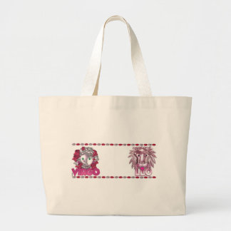 Virgo - Leo  zodiac friendship Canvas Bag