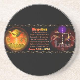 Virgo Libra zodiac astrology cusp Beverage Coasters