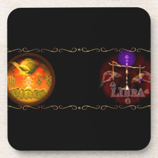 Virgo Libra zodiac astrology cusp is Virgobra Drink Coasters
