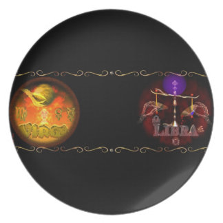 Virgo Libra zodiac astrology cusp is Virgobra Party Plates