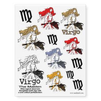 Virgo los tatuajes del arte del zodiaco de la