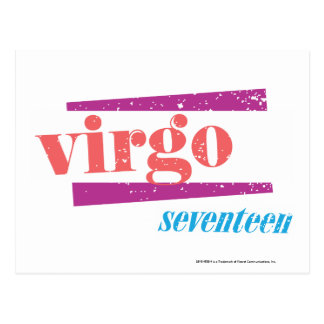 Virgo LtPink Postcard