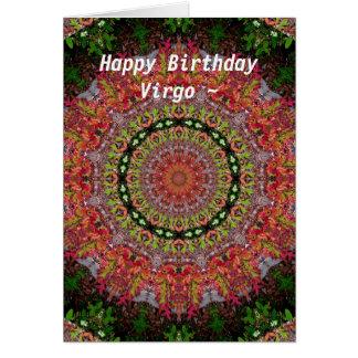 Virgo Mandala Birthday Card