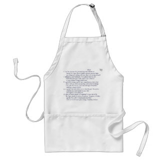VIRGO ode on apron