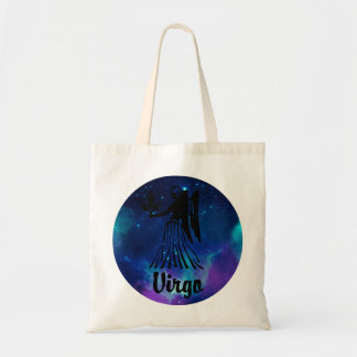 Virgo On Space Background Tote Bag