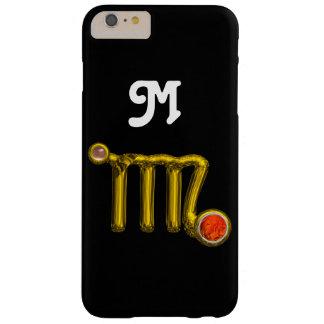 VIRGO ORANGE AGATE GOLD ZODIAC SIGN JEWEL MONOGRAM BARELY THERE iPhone 6 PLUS CASE