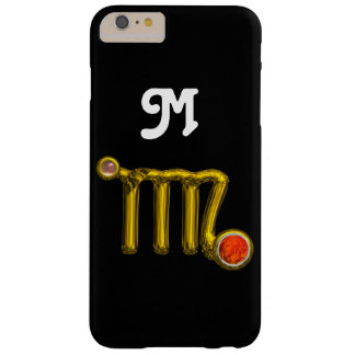 VIRGO ORANGE AGATE GOLD ZODIAC SIGN JEWEL MONOGRAM BARELY THERE iPhone 6 PLUS CASE