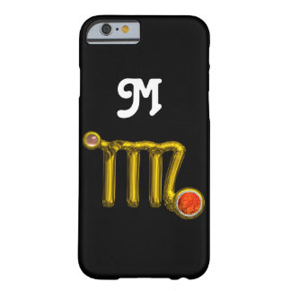 VIRGO ORANGE AGATE GOLD ZODIAC SIGN JEWEL MONOGRAM BARELY THERE iPhone 6 CASE