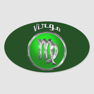 Virgo Oval Sticker