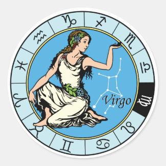 virgo pegatina redonda