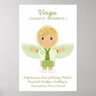 Virgo - poster del horóscopo del muchacho