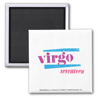 Virgo Purple 2 Inch Square Magnet