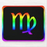 Virgo Rainbow Mouse Pads