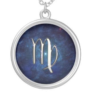 Virgo Round Pendant Necklace