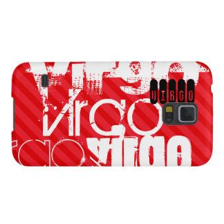 Virgo; Scarlet Red Stripes Galaxy S5 Covers