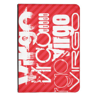 Virgo; Scarlet Red Stripes Kindle Touch Cover