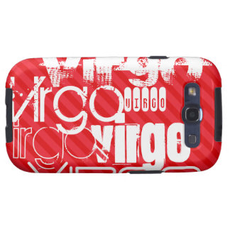 Virgo; Scarlet Red Stripes Samsung Galaxy S3 Cover