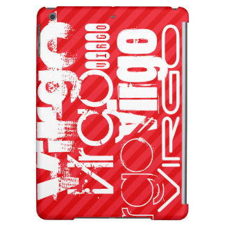 Virgo; Scarlet Red Stripes iPad Air Cover