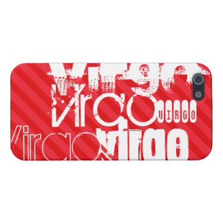 Virgo; Scarlet Red Stripes iPhone 5/5S Case