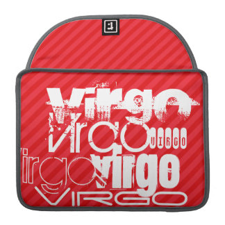 Virgo; Scarlet Red Stripes Sleeves For MacBook Pro