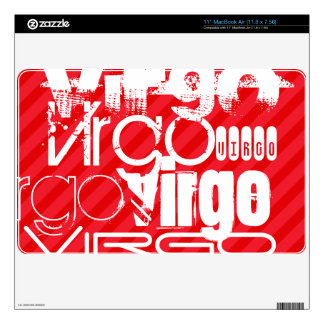 Virgo; Scarlet Red Stripes MacBook Decal