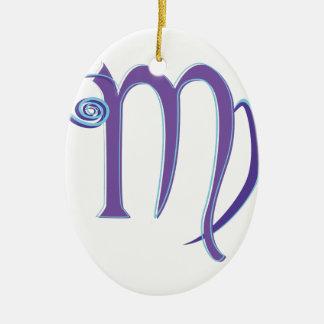 Virgo Sign Ceramic Ornament