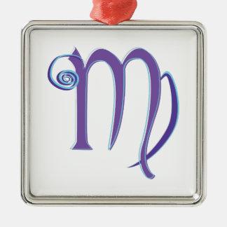Virgo Sign Metal Ornament