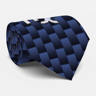 Virgo Sign on Blue Carbon Fiber Print Style Neck Tie