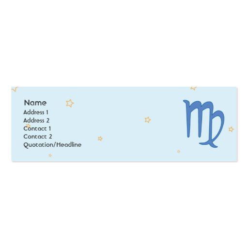Virgo - Skinny Business Card Template