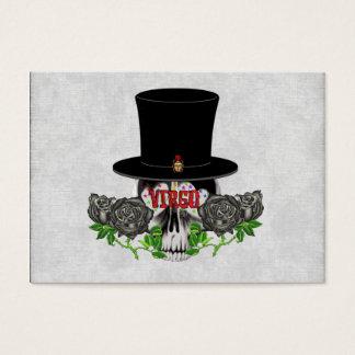 Virgo Skull Business Card