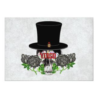"""Virgo Skull 5"""" X 7"""" Invitation Card"""
