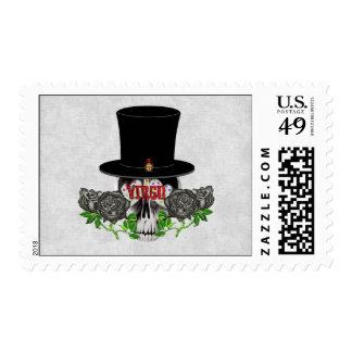 Virgo Skull Postage Stamps