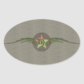 Virgo Star Oval Sticker