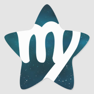 Virgo Star Sticker