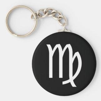 Virgo Symbol Basic Round Button Keychain