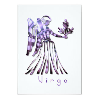 """Virgo Symbol Invitation 5"""" X 7"""" Invitation Card"""