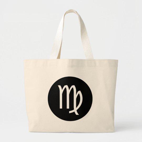 Virgo Symbol Large Tote Bag
