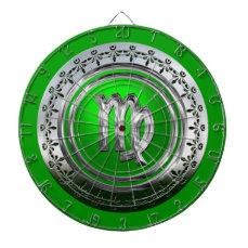 Virgo - The Maiden Astrological Sign Dartboard