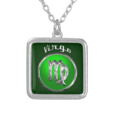 Virgo -The Maiden Horoscope Symbol Silver Plated Necklace