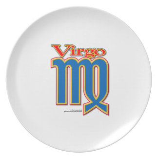 Virgo the virgin dinner melamine plate