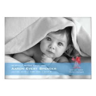 "Virgo the Virgin Photo Birth Announcement Card 5"" X 7"" Invitation Card"