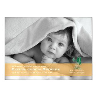 Virgo the Virgin Photo Birth Announcement Card