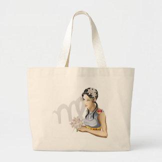 Virgo the virgin star or birth or zodiac sign canvas bags