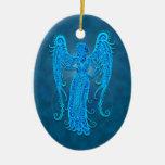 Virgo tribal azul complejo ornamentos para reyes magos