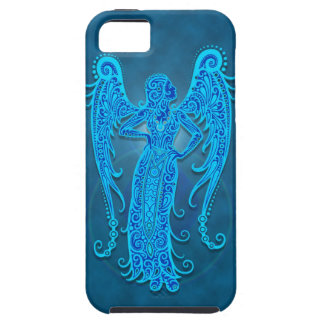 Virgo tribal azul complejo iPhone 5 Case-Mate carcasa