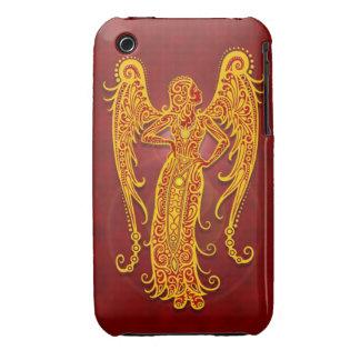 Virgo tribal rojo de oro complejo iPhone 3 cobreturas
